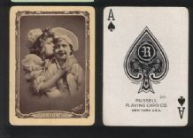 "Collectible Antique American wide name playing cards ""Sweethearts"" by Russell"